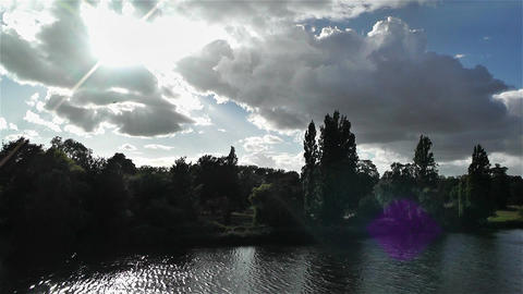 Hyde Park London 9 handheld Stock Video Footage