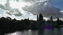 Hyde Park London 9 handheld Stock Video Footage