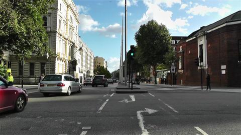 Hyde Park London Kensington Road 21 handheld Stock Video Footage