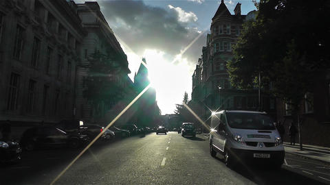 Kensington London 1 handheld Stock Video Footage