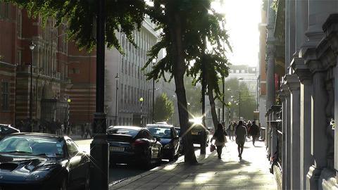Kensington London 3 handheld Stock Video Footage