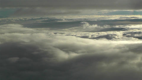 Landing in Clouds 2 Footage
