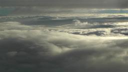 Landing in Clouds 2 Stock Video Footage