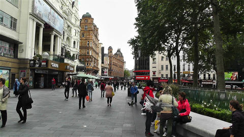 Leicester Square London 3 handheld Footage