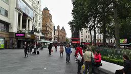 Leicester Square London 3 handheld Stock Video Footage