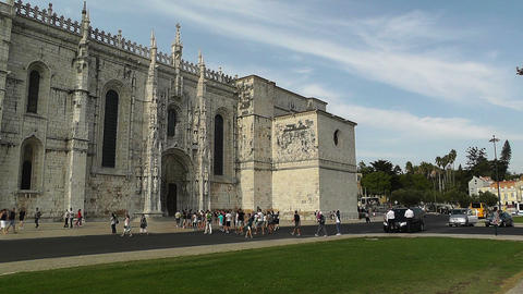 Lisbon Portugal 3 Jeronimos Monastery Stock Video Footage