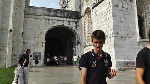 Lisbon Portugal 5 Jeronimos Monastery Stock Video Footage