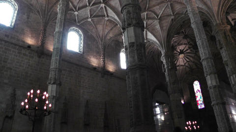 Lisbon Portugal 11 Jeronimos Monastery Stock Video Footage