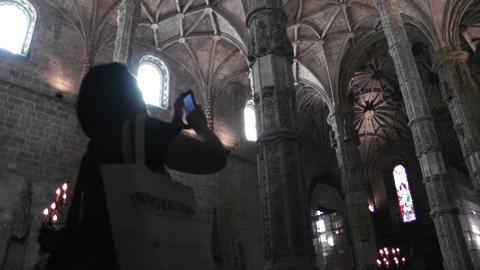 Lisbon Portugal 11 Jeronimos Monastery Footage