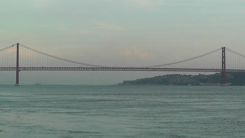 Lisbon Portugal 15 April 25 Bridge Stock Video Footage