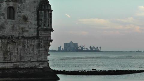 Lisbon Portugal 22 Belen Tower Stock Video Footage