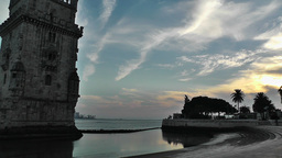 Lisbon Portugal 24 Belen Tower Stock Video Footage