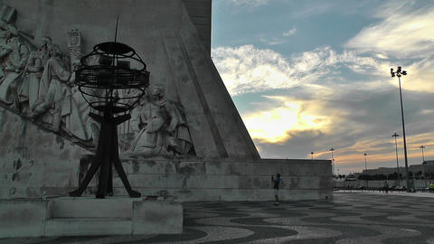 Lisbon Portugal 26 Henry Navigator Statue Stock Video Footage