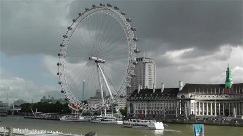 London Eye River Thames London 2 handheld Footage