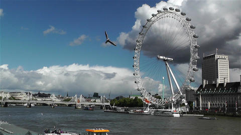 London Eye River Thames London 4 handheld Footage