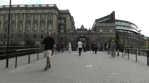 Parliament of Sweden Stockholm 1 Stock Video Footage
