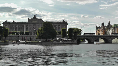 Parliament Of Sweden Stockholm 4 stock footage