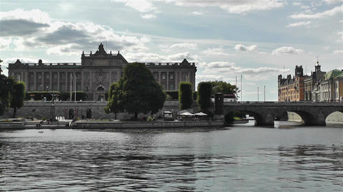 Parliament of Sweden Stockholm 4 Stock Video Footage