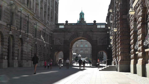 Parliament of Sweden Stockholm 17 Footage