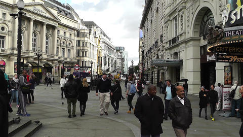 Piccadily Circus London 7 handheld Stock Video Footage