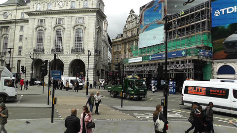 Piccadily Circus London 9 handheld Footage