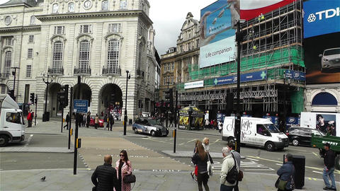 Piccadily Circus London 9 handheld Stock Video Footage