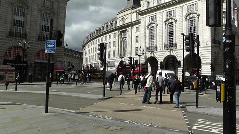 Piccadily Circus London 11 handheld Stock Video Footage