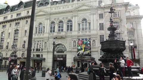 Piccadily Circus London 13 handheld Stock Video Footage