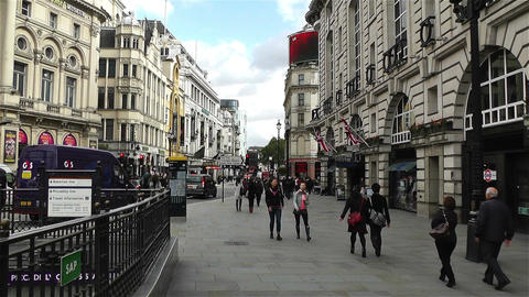 Piccadily Circus London 16 handheld Stock Video Footage