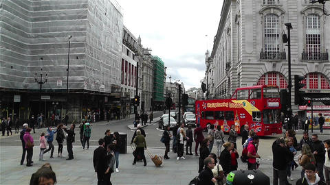 Piccadily Circus London 18 handheld Stock Video Footage