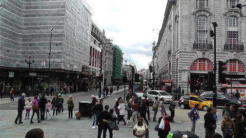 Piccadily Circus London 18 handheld Footage
