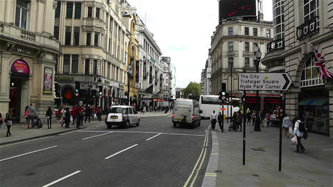 Piccadily Circus London 20 handheld Stock Video Footage