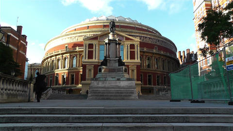 Royal Albert Hall London 1 handheld Stock Video Footage