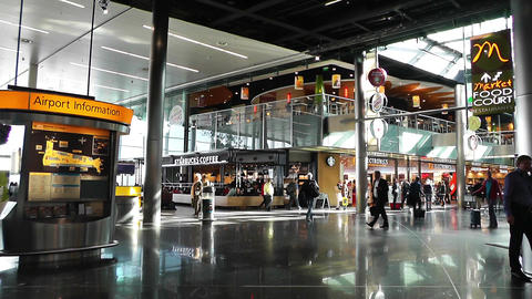 Schipol Airport Amsterdam 2 Stock Video Footage