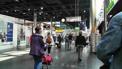 Schipol Airport Amsterdam 4 Stock Video Footage