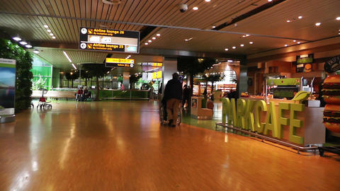 Schipol Airport Amsterdam 6 Stock Video Footage