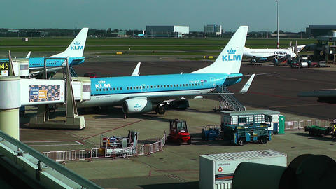 Schipol Airport Amsterdam 22 Stock Video Footage