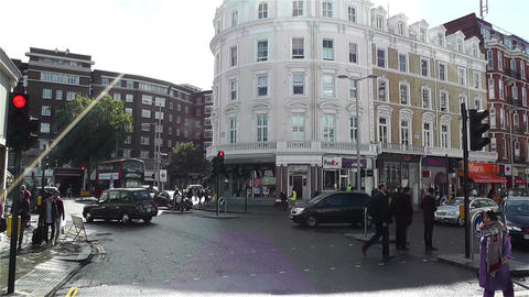 South Kensington London 2 handheld Stock Video Footage