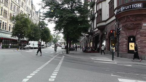 Stockholm Birger Jarlsgatan 2 Stock Video Footage