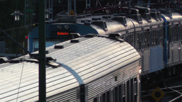 Stockholm Central Station 13 train Stock Video Footage