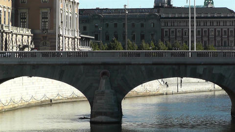 Stockholm Downtown 13 Stock Video Footage