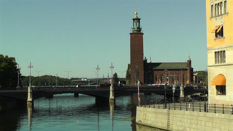 Stockholm Downtown 16 Stock Video Footage