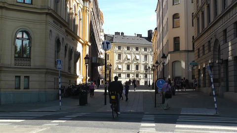 Stockholm Downtown 20 Stock Video Footage
