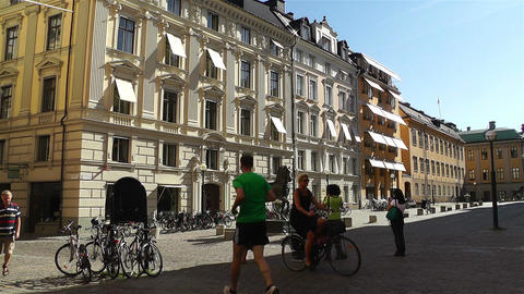 Stockholm Downtown 22 Stock Video Footage