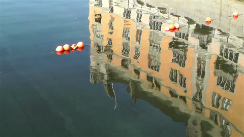 Stockholm Downtown Water Reflections Stock Video Footage
