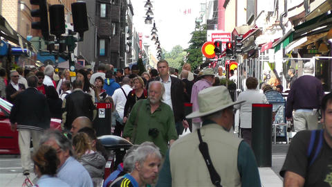 Stockholm Drottniggatan 2 Stock Video Footage