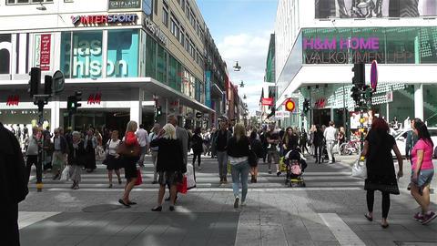 Stockholm Drottniggatan 4 Stock Video Footage
