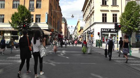 Stockholm Drottniggatan 8 Stock Video Footage