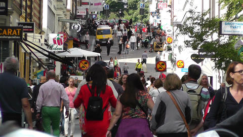 Stockholm Drottniggatan 10 Stock Video Footage