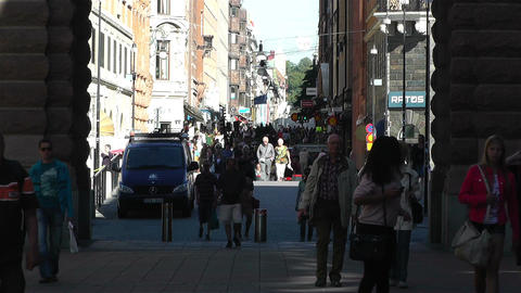 Stockholm Drottniggatan 14 Stock Video Footage